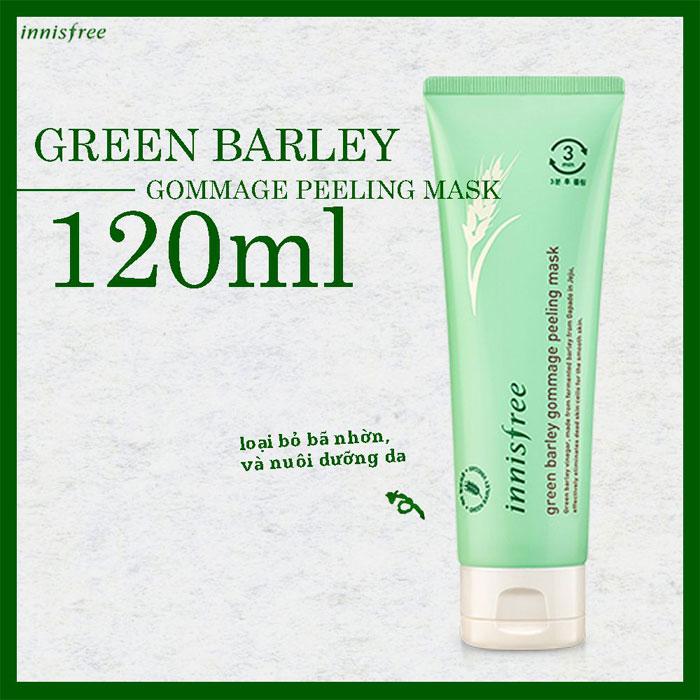 tẩy tế bào chết lúa mạch green barley gommage peeling innisfree