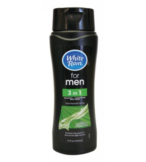 tắm gội xã white rain men 3 in 1 440ml