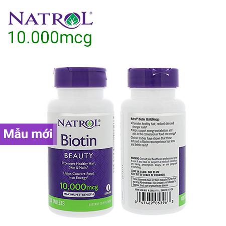 thuốc biotin mẫu mới 10000 mgc