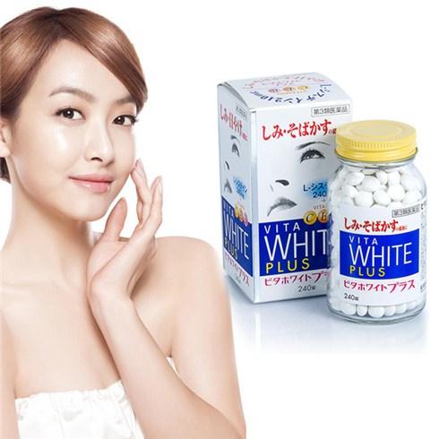 Viên uống trắng da Vita White Plus hỗ trợ trị nám và tàn nhang hiệu quả (Nhật)