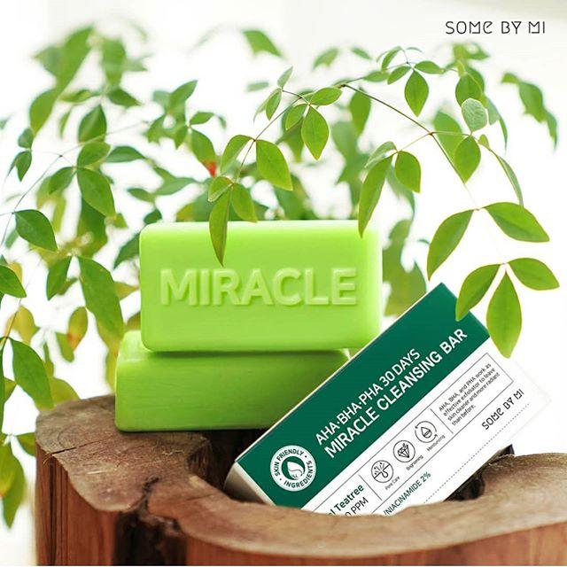 Xà phòng trị mụn Some By Mi AHA  BHA  PHA 30 Days Miracle Cleansing Bar