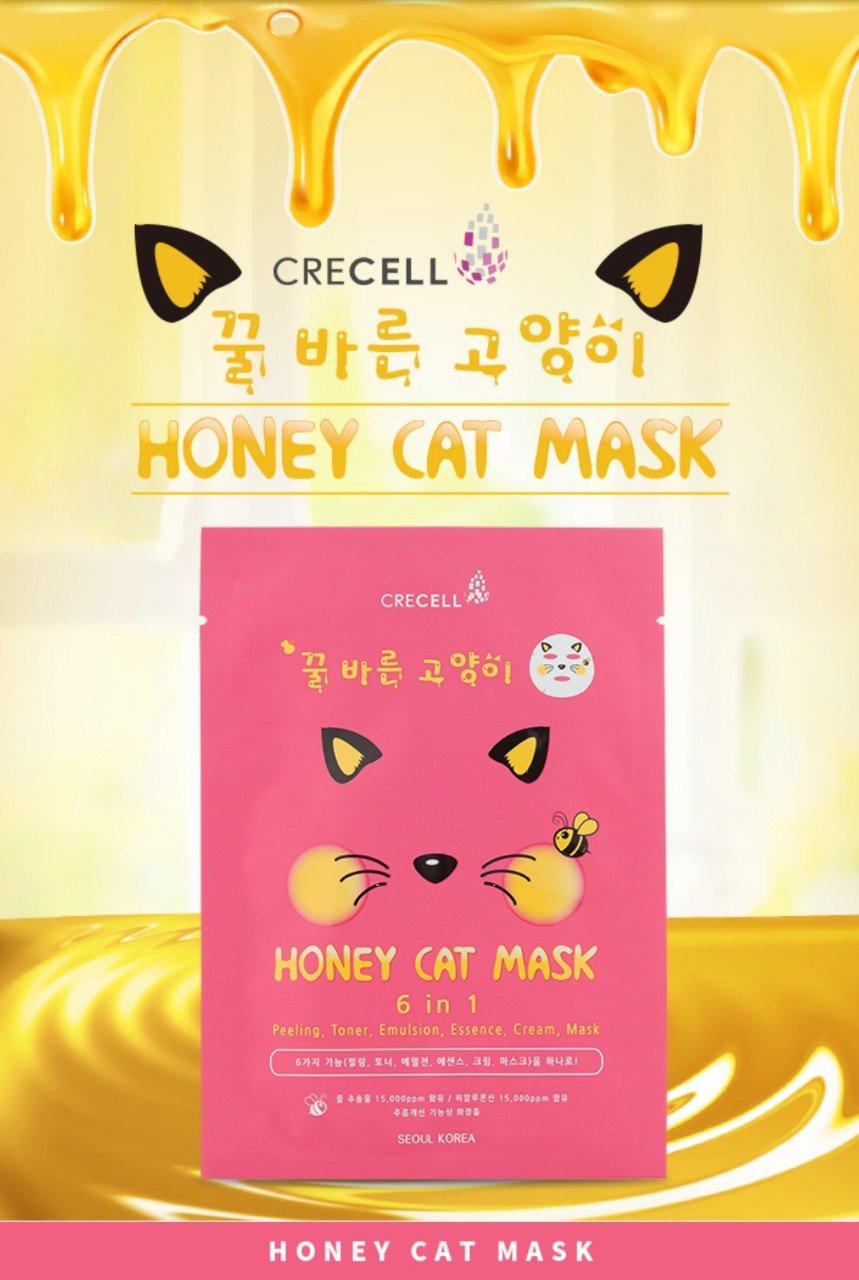 Mặt Nạ 6 trong 1 CRECELL Honey Cat Mask Hàn Quốc