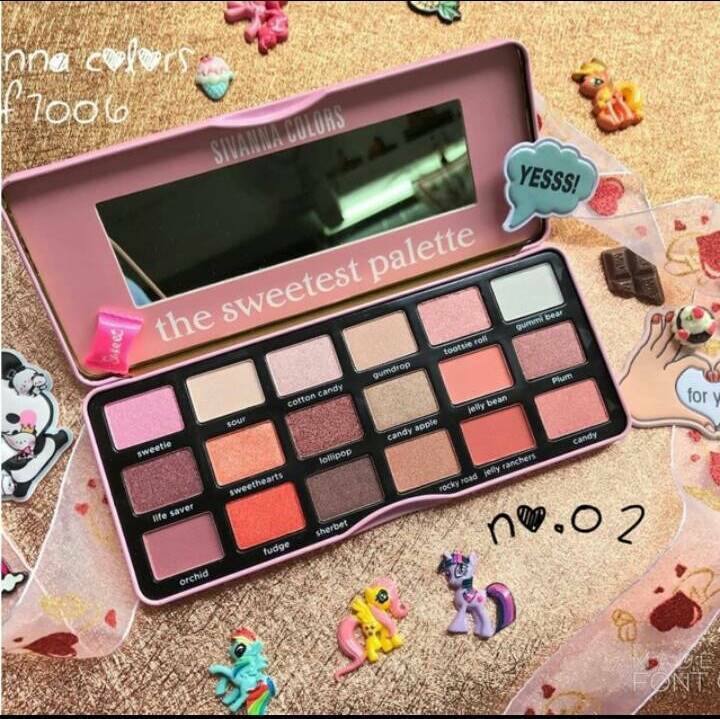 bảng màu mắt the sweetest palette sivanna colors (18 ô)