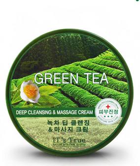 kem massage Cellio It s true Green Tea deep cleansing and massage cream 300ml korean