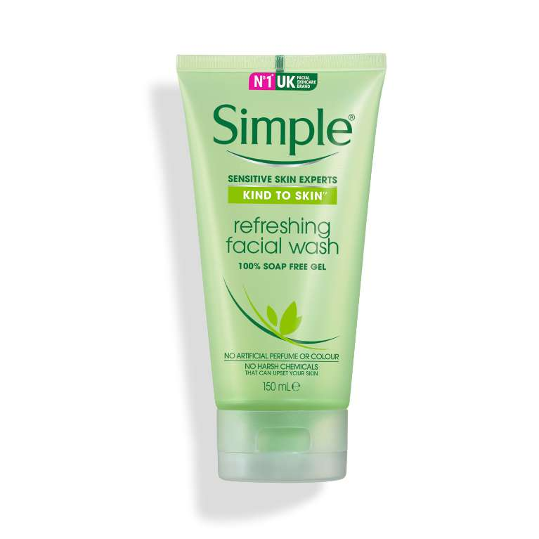 Gel Rửa Mặt Simple Kind To Skin Refreshing Facial Wash Gel (150ml)