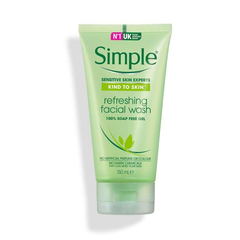 Gel Rửa Mặt Simple Kind To Skin Refreshing Facial Wash Gel (150ml)