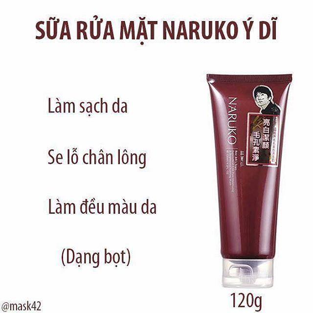 sữa rửa mặt NARUKO Raw Job's Tears 120g (màu nâu)