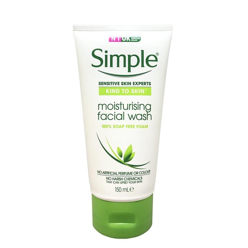 srm dưỡng ẩm simple moisturising facial wash 150 ml
