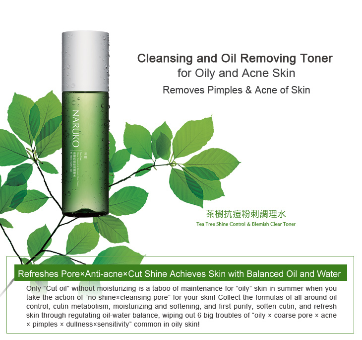 Toner Naruko Tea Tree Shine Control and Blemish Clear Toner 150 ml ( Tràm trà )