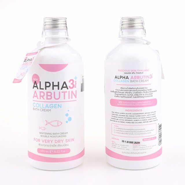 Sữa Tắm Trắng Alpha Arbutin 3 Plus+ Collagen 350ml