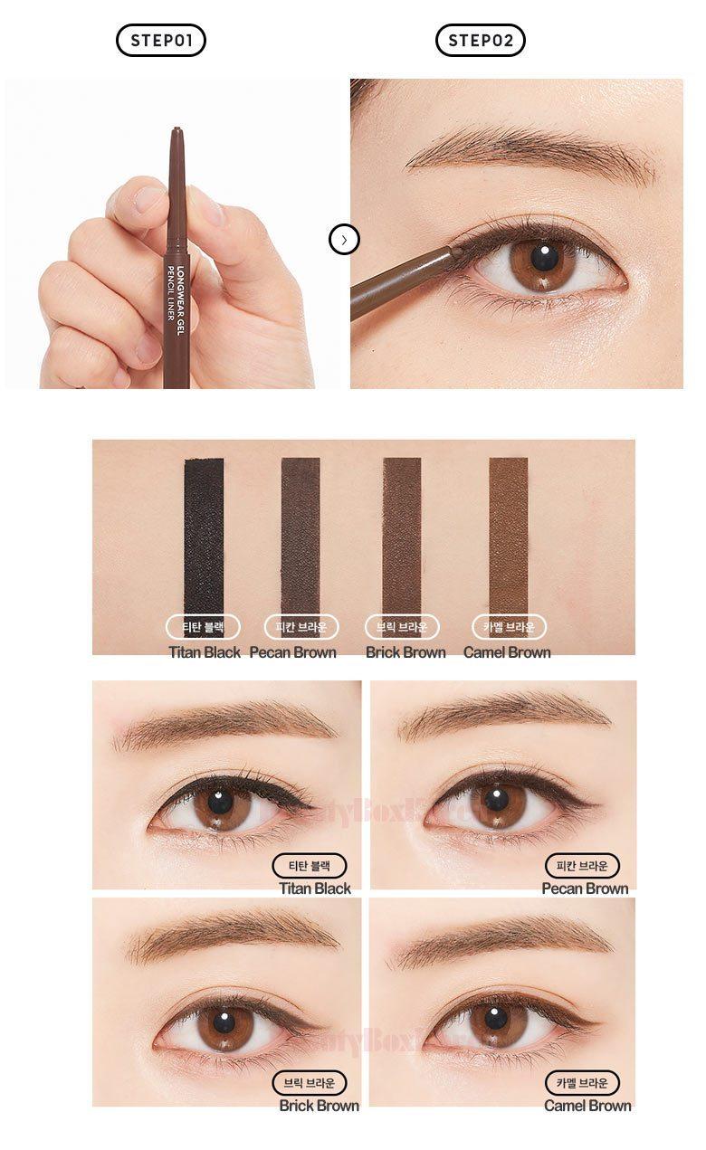 Chì Kẻ Mắt Dạng Gel Missha LongWear Gel Pencil Liner