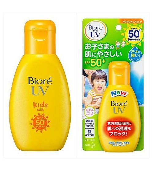 Kem chống chuyên cho da nhạy cảm dùng dùng được cho trẻ em Biore UV Kids Milk (90ml)