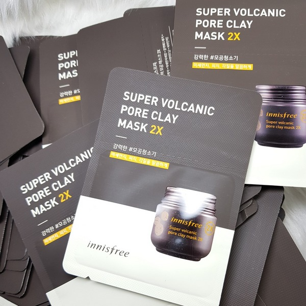 sample mặt nạ super volcanic innisfree 2x