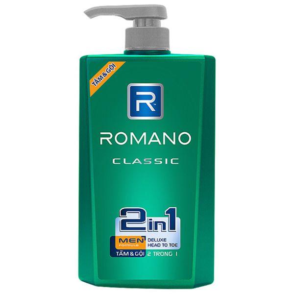 Tắm & Gội Romano Classic 2in1 650g