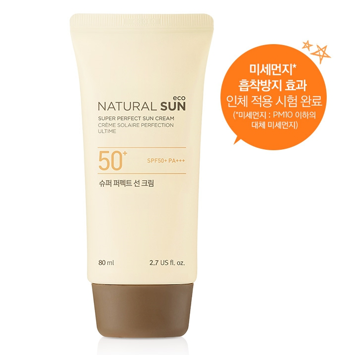 Kem Chống Nắng  NATURAL SUN ECO SUPER PERFECT SUN CREAM SPF50+ PA+++ (80ml)