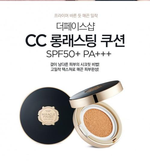 Phấn Nước - CC LONG-LASTING CUSHION SPF50+ PA+++ - The Face shop